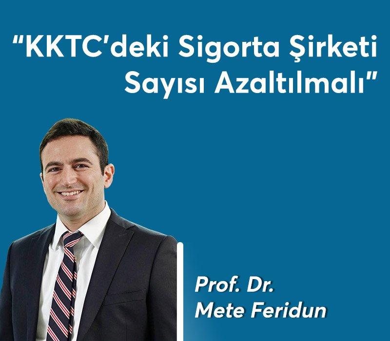 Prof. Dr. Mete Feridun: KKTC'deki Sigorta Şirketi Sayısı Azaltılmalı